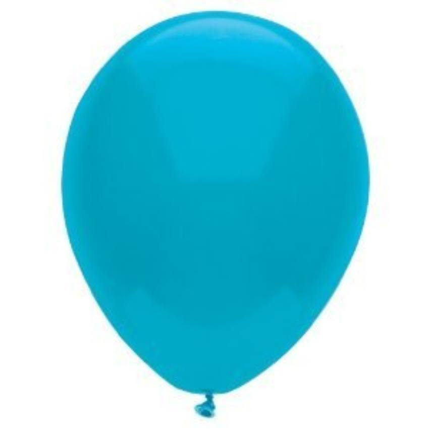 "PartyMate Round Solid Color Latex Balloons - 12"", 15ct, Island Blue"