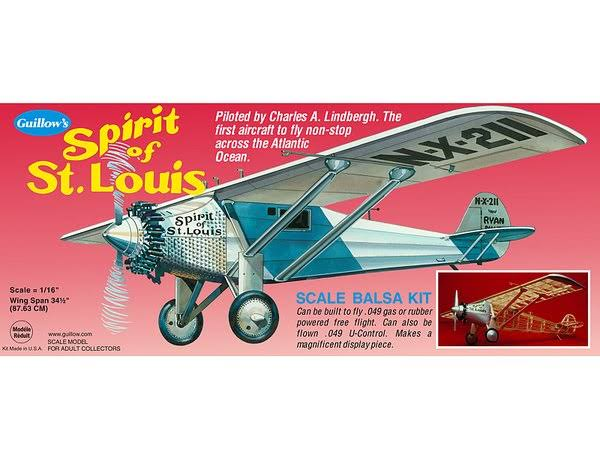 Guillow's Spirit of St. Louis 807 Powered Balsa Flying Model Kit
