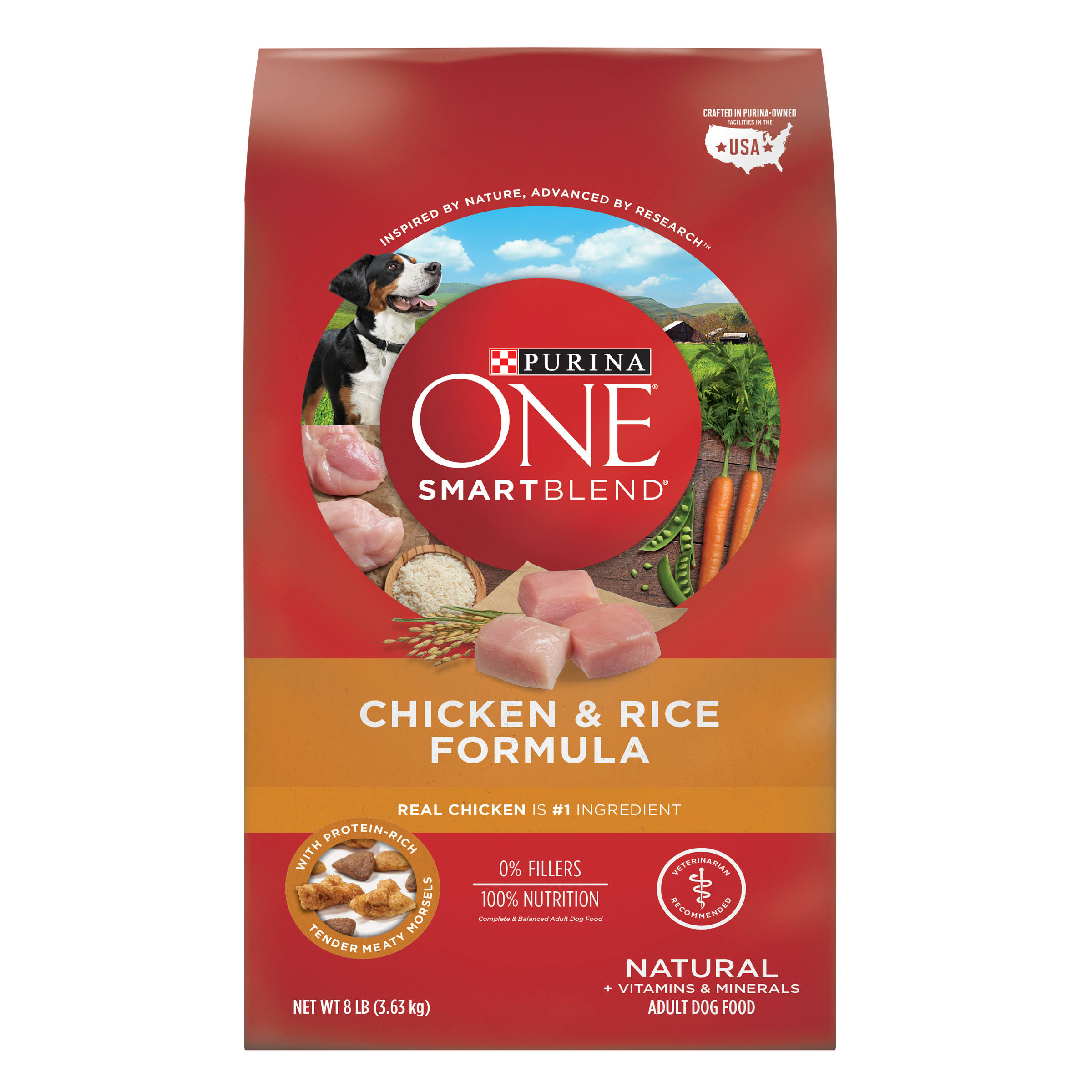 Purina ONE SmartBlend Dry Dog Food - Chicken & Rice Formula, 8lbs