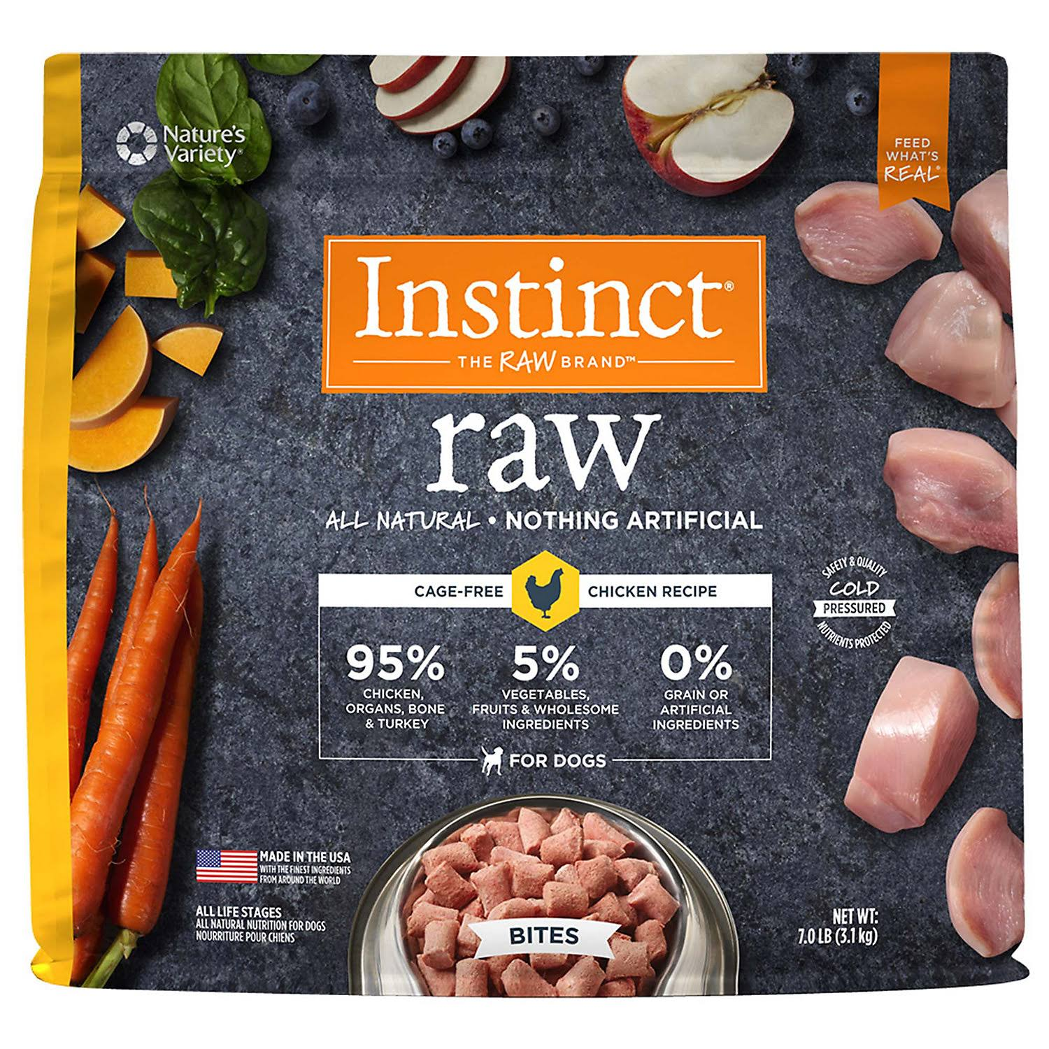 Nature's Variety Instinct Raw Bites Dog Food - Chicken Formula