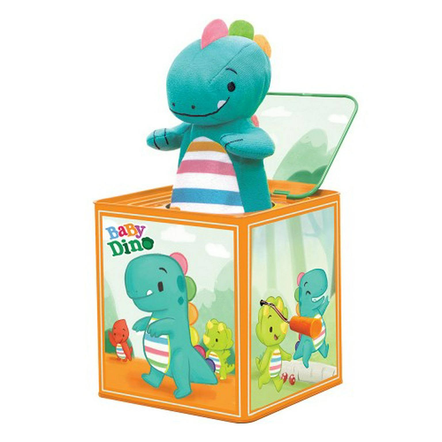Schylling Baby Dino Jack in The Box, Green