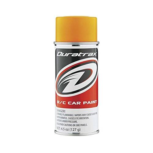 Duratrax Polycarbonate Radio Control Vehicle Body Spray Paint - Fluorescent Bright Orange, 4.5oz
