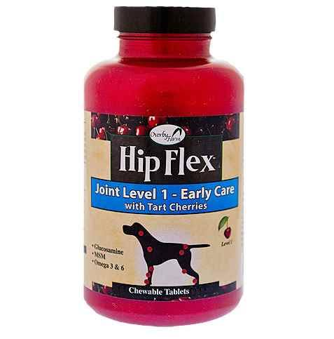 Naturvet Overby Farm Hip Flex Level 1 Early Care with Tart Cherries - 120 Chewable Tablets, 360g