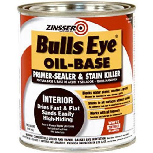 Zinsser 03544 Bulls Eye Oil-Base Primer Sealer & Stain Killer - 1qt