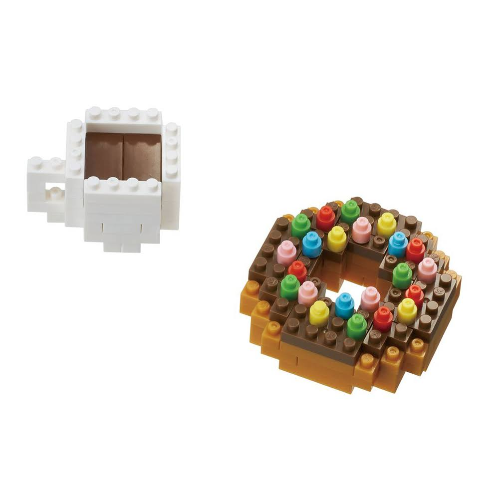 Nanoblock Donut & Coffee Building Set - NBC-246