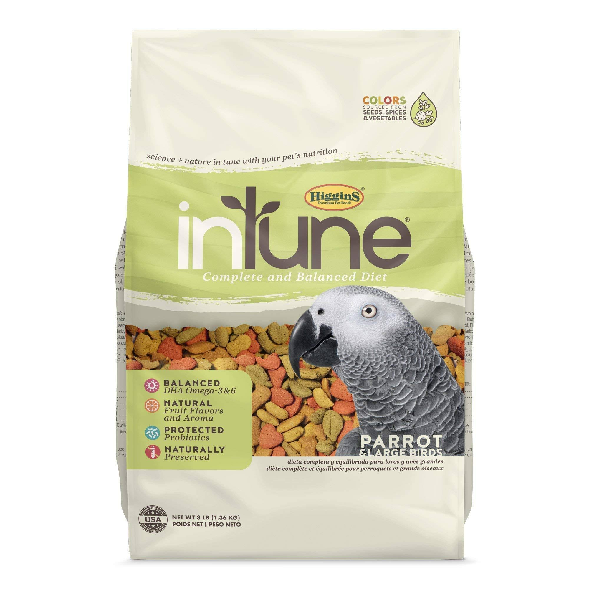 Higgins Intune Natural Parrot Pellet Food