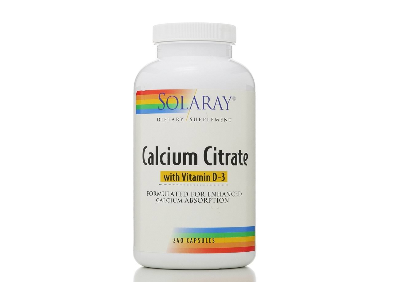 Solaray Calcium Citrate With Vitamin D-3 - 1000mg, 240 Capsules