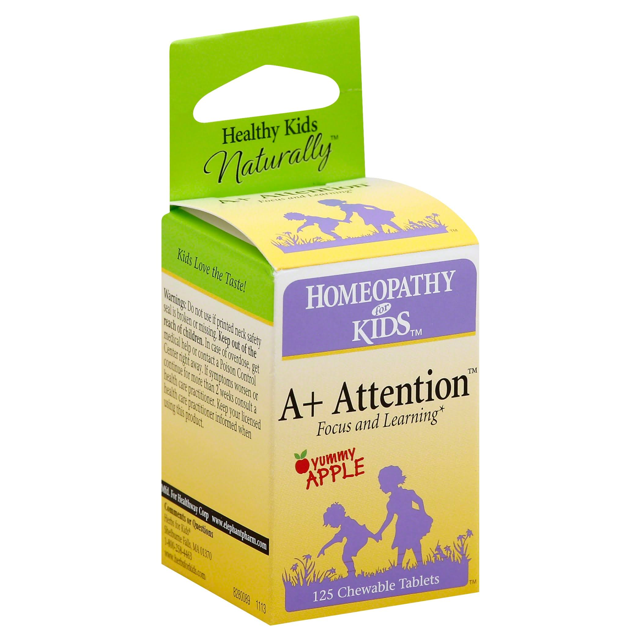 Herbs for Kids A Plus Attention Supplement - 125 Chewable Tablets