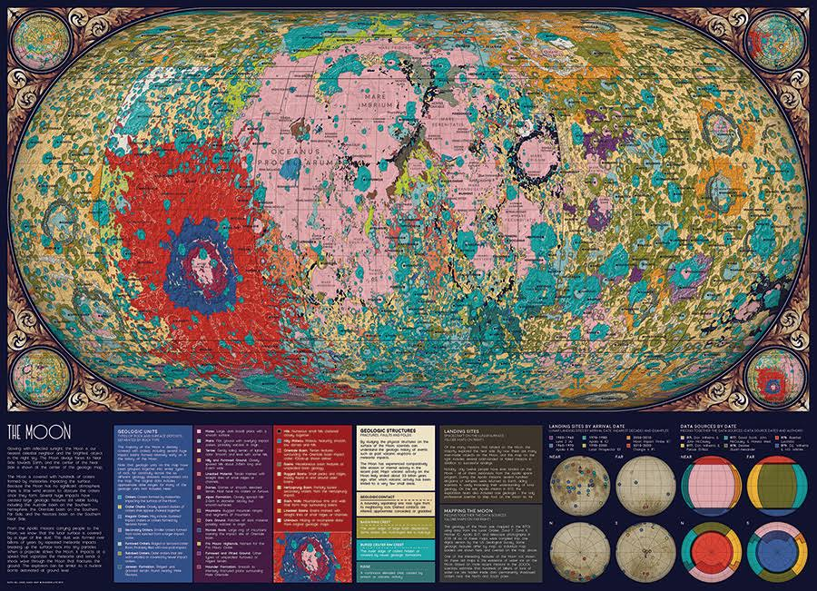 Cobble Hill Puzzles The Moon 1000 Piece Science Jigsaw Puzzle