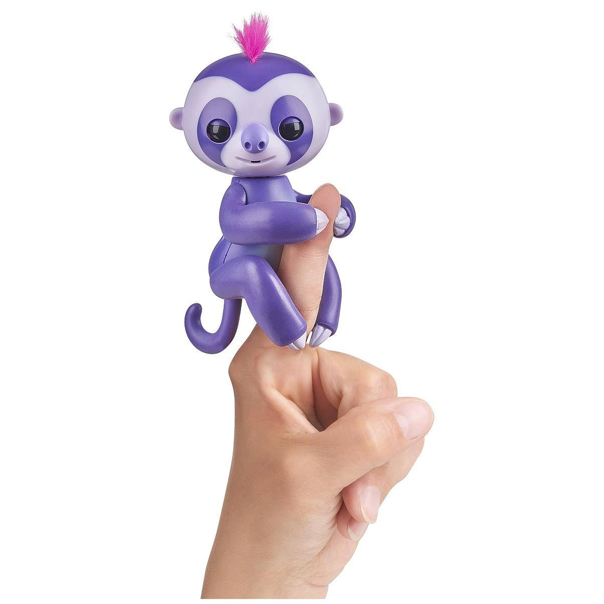 WowWee 3752 Authentic Fingerlings Baby Sloth Toy - Purple