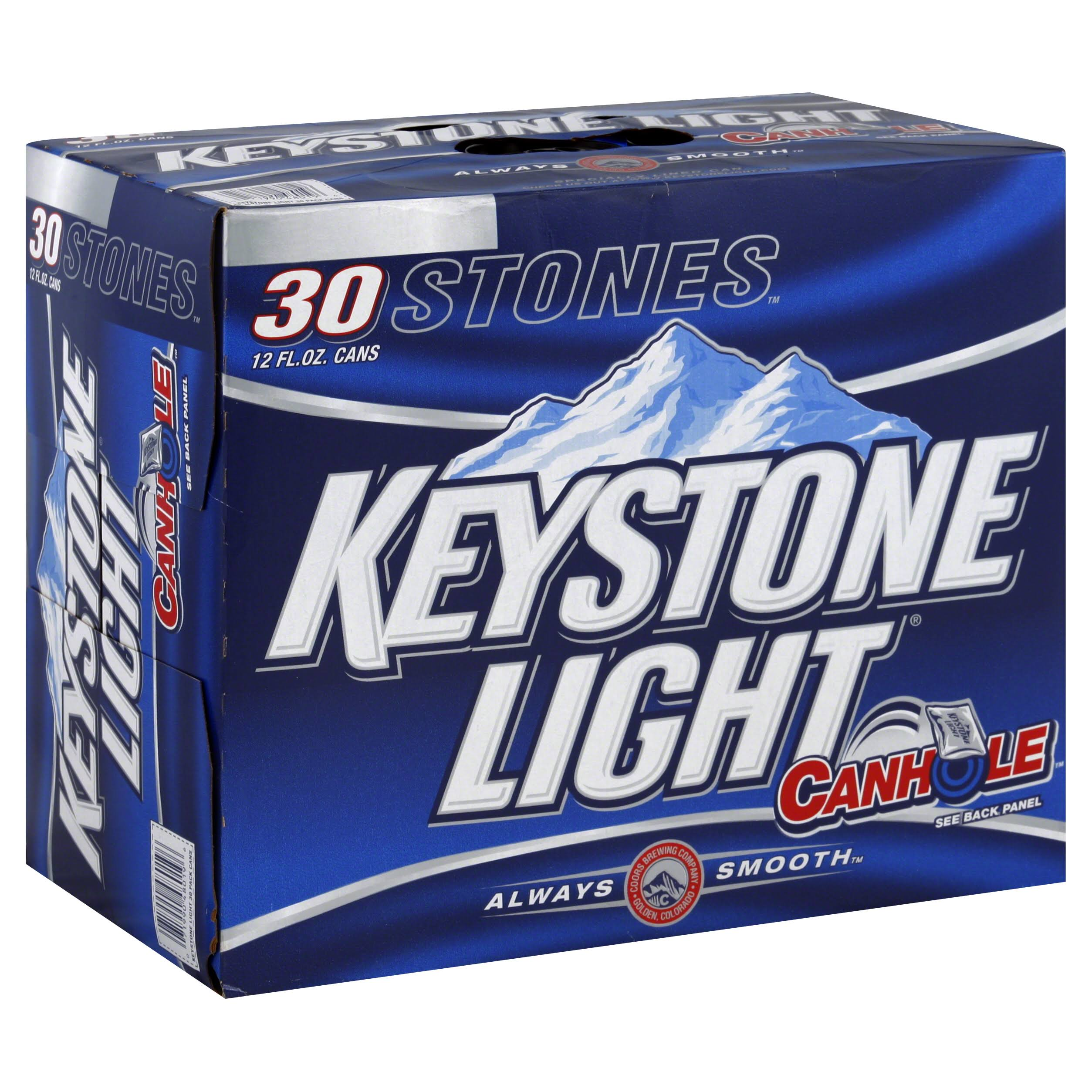Keystone Beer - Light , 12floz, 30ct