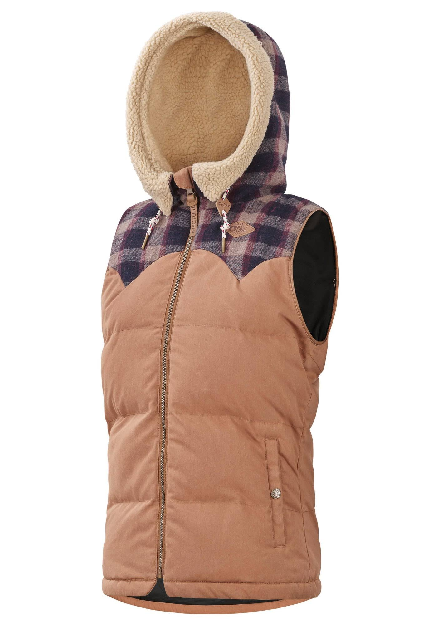 Picture Organic W Holly Vest - Camel