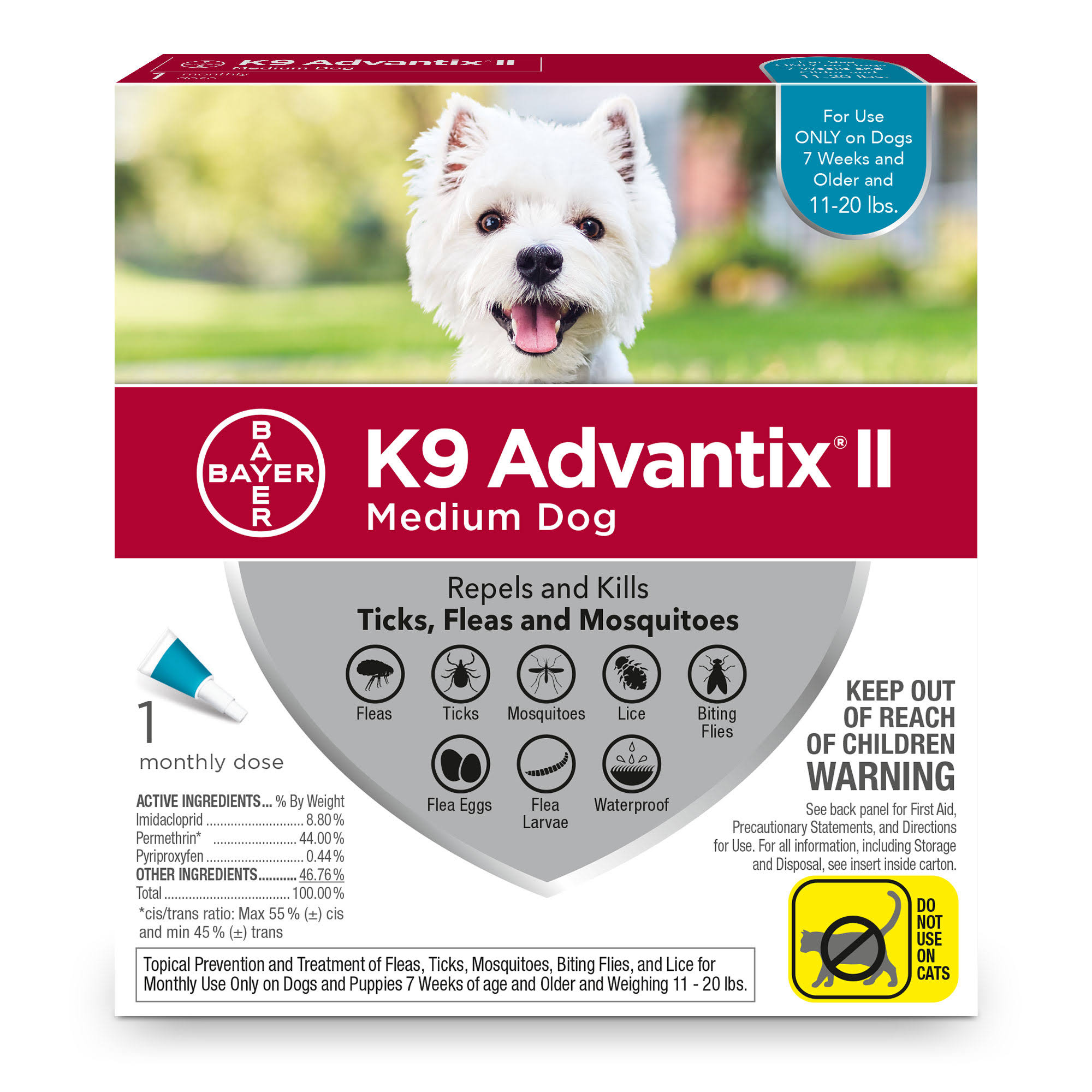 K9 Advantix II Medium Dog 1 Month Dose