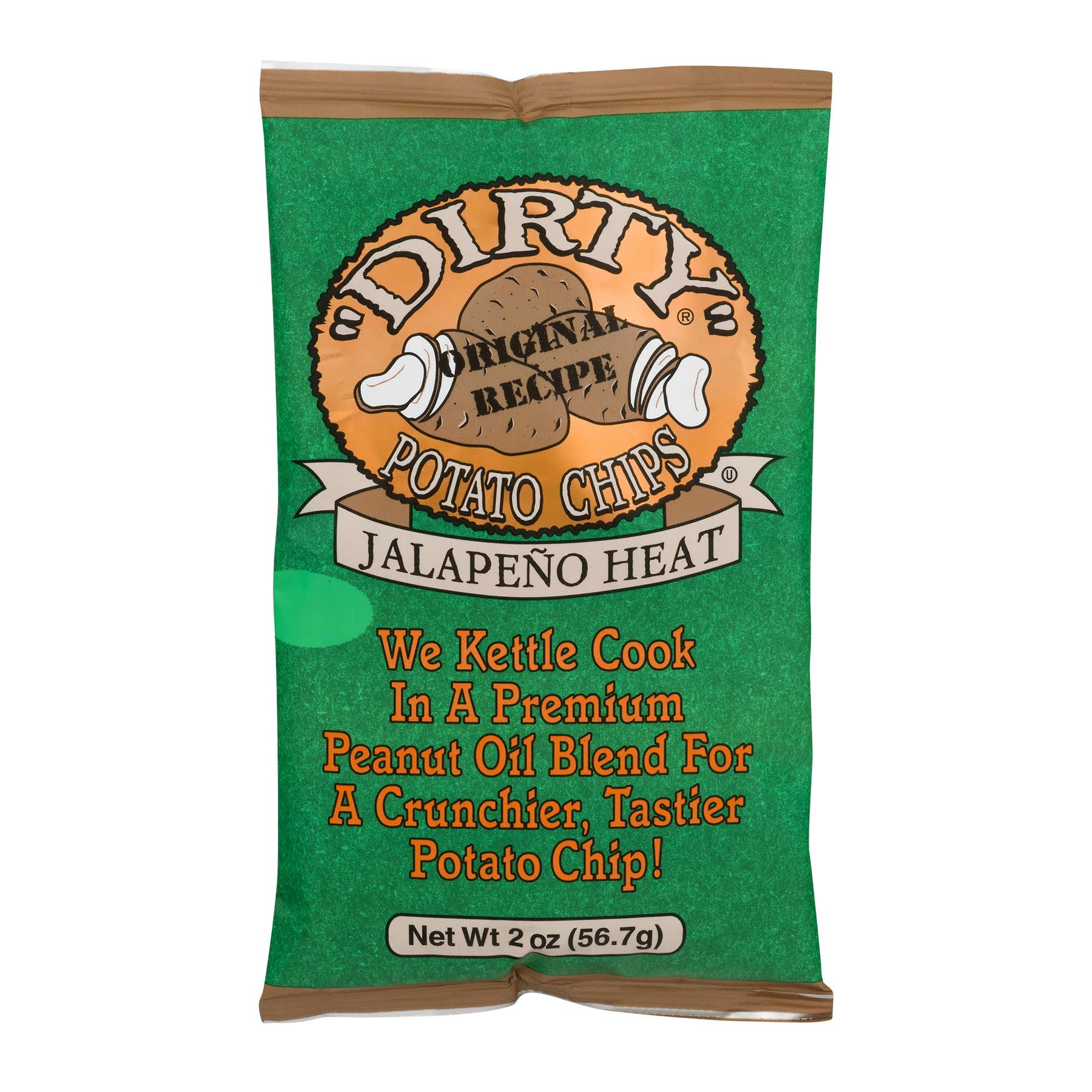 Dirty Potato Chips, Jalapeno Heat - 2 oz bag