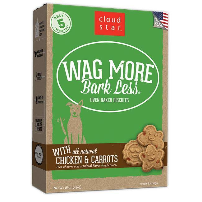 Cloud Star Wag More Bark Less Oven Baked Dog Biscuits - Chicken & Carrots