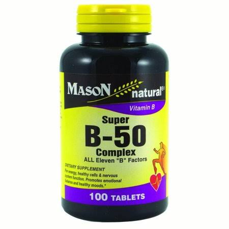 Mason Natural Super B-50 Complex - 100 Tablets