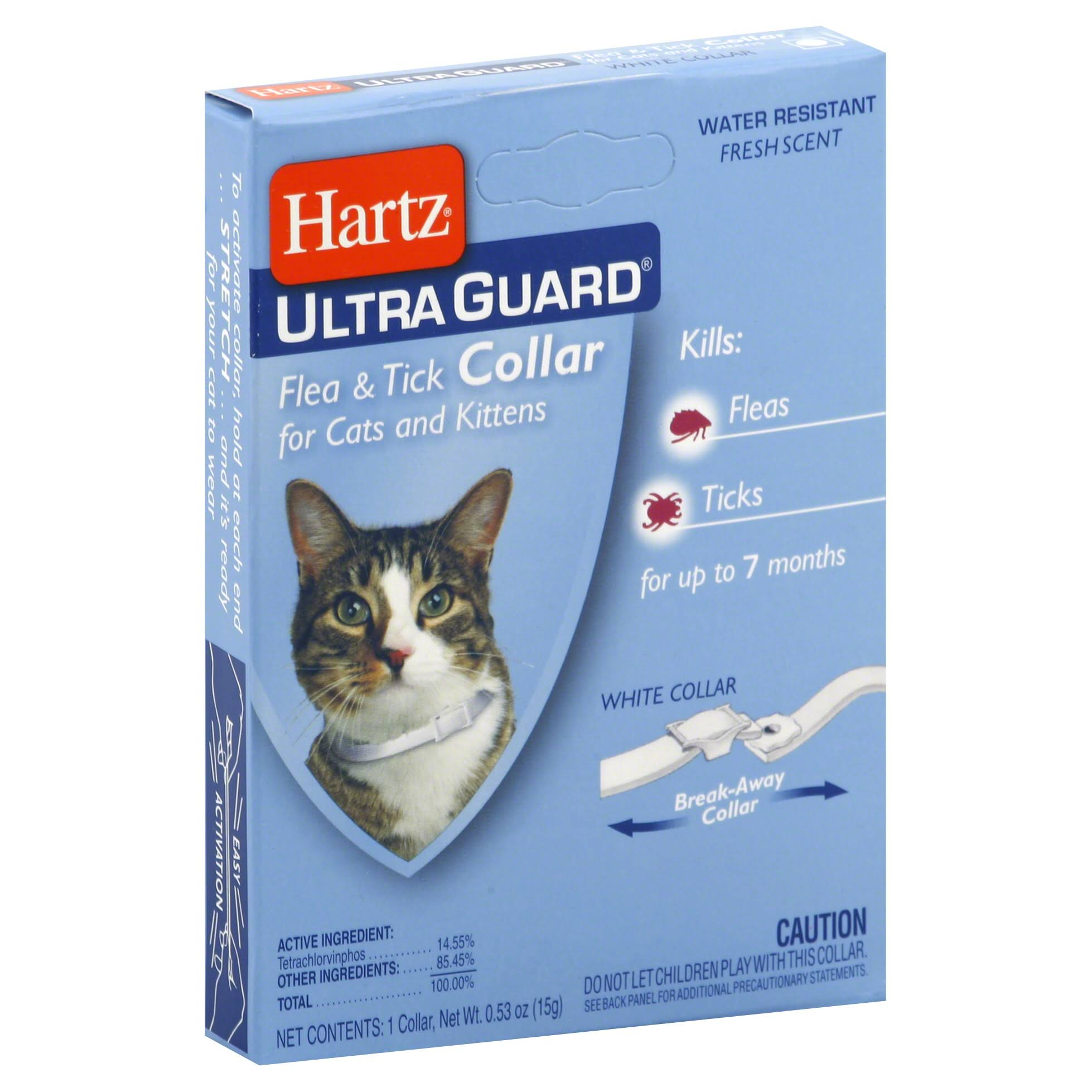 Hartz UltraGuard Flea and Tick Cat and Kitten Collar - White