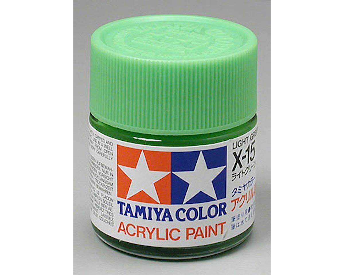 Tamiya 81015 Acrylic X15 Light Green 3/4 oz