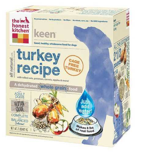 The Honest Kitchen Keen: Natural Human Grade Dehydrated Dog Food - Turkey, 2lbs