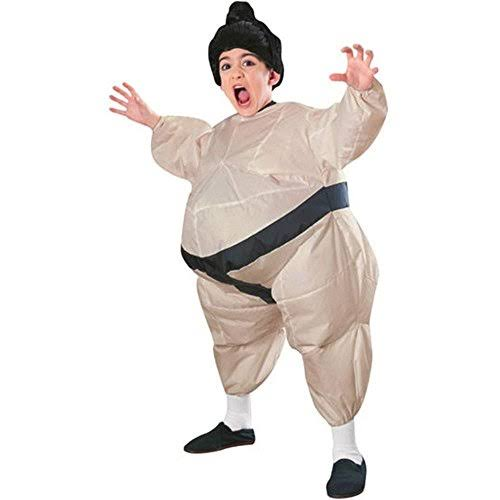 Rubie's Costume Boys Sumo Wrestler Inflatable Child Costume, Beige/Black, Size 8-10