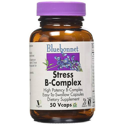 Bluebonnet Nutrition Stress B-Complex Dietary Supplement - 50 Capsules