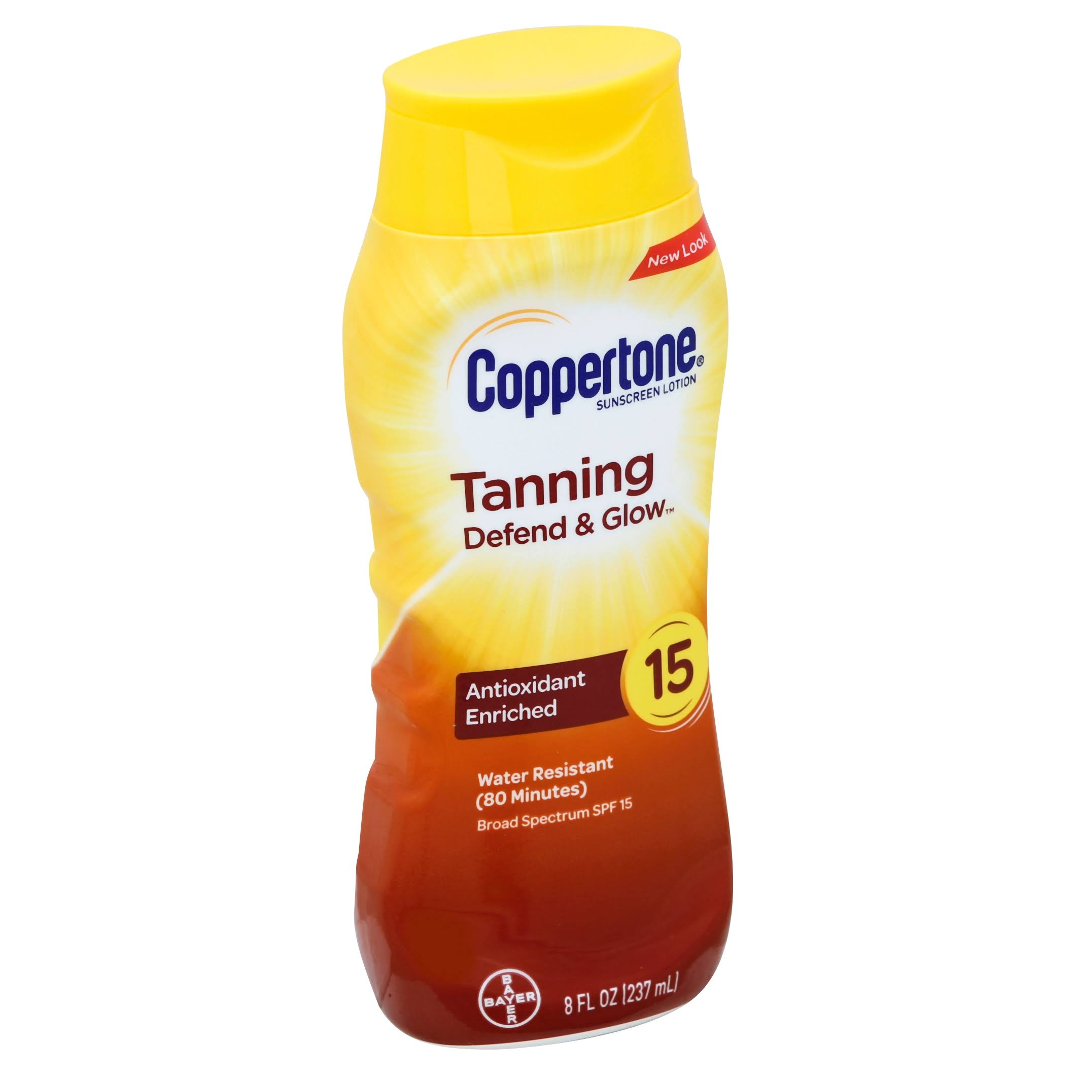Bayer Coppertone Tanning Lotion Sunscreen - SPF 15, 237ml