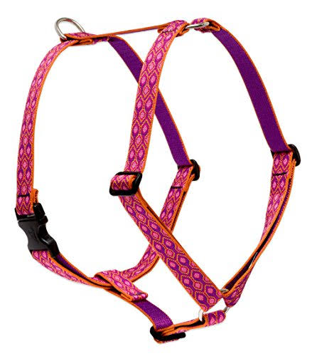 "LupinePet Originals 1"" Alpen Glow 24-38"" Roman Harness for Large Dogs"