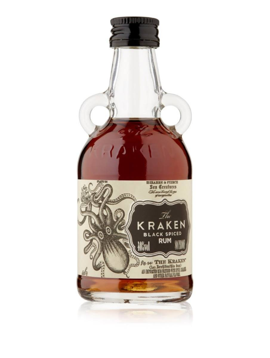 The Kraken Black Spiced Rum 5cl (Miniature)