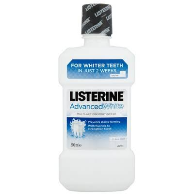 Listerine Advanced White Mouthwash - Clean Mint, 500ml