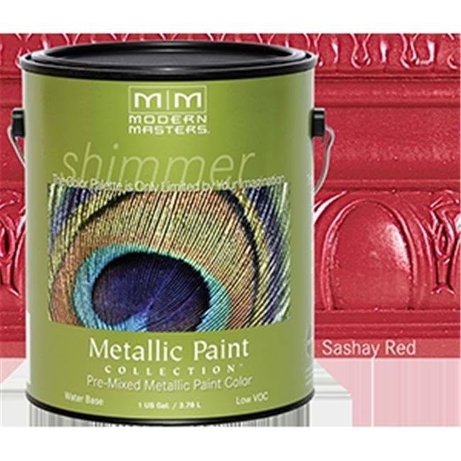 Modern Masters Me513 1 Gallon Sashay Red Metallic Paint - Opaque