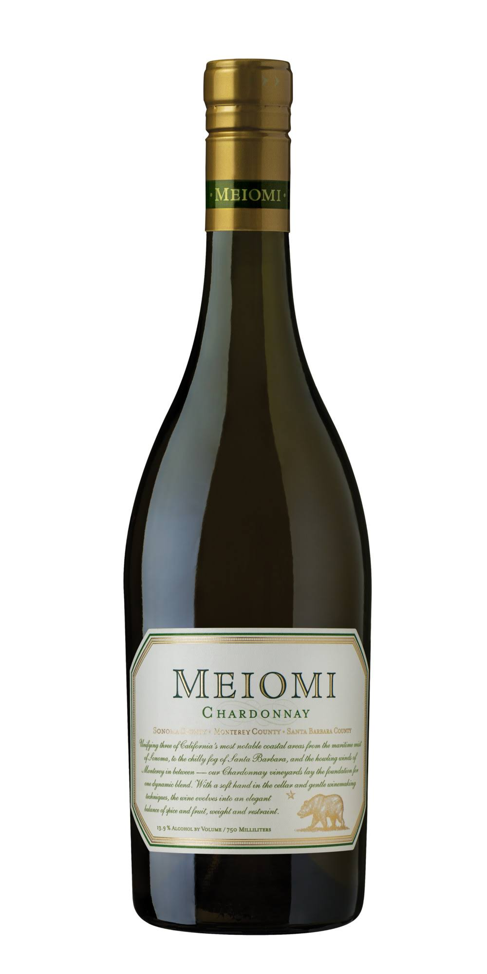 Meiomi Chardonnay, California (Vintage Varies) - 750 ml bottle
