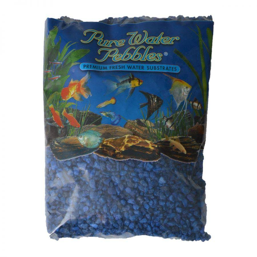 Pure Water Pebbles Aquarium Gravel - Marine Blue 5 lbs