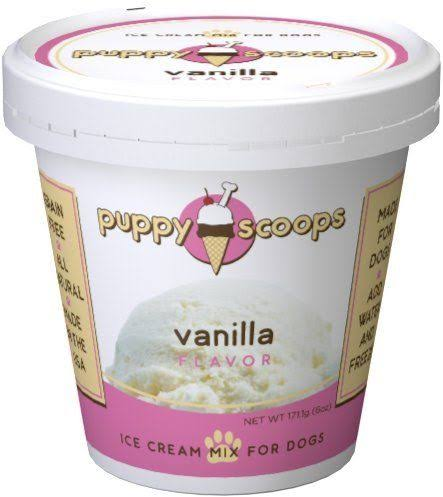 Puppy Scoops Ice Cream Mix for Dogs and Puppies - Vanilla Flavor, 6oz