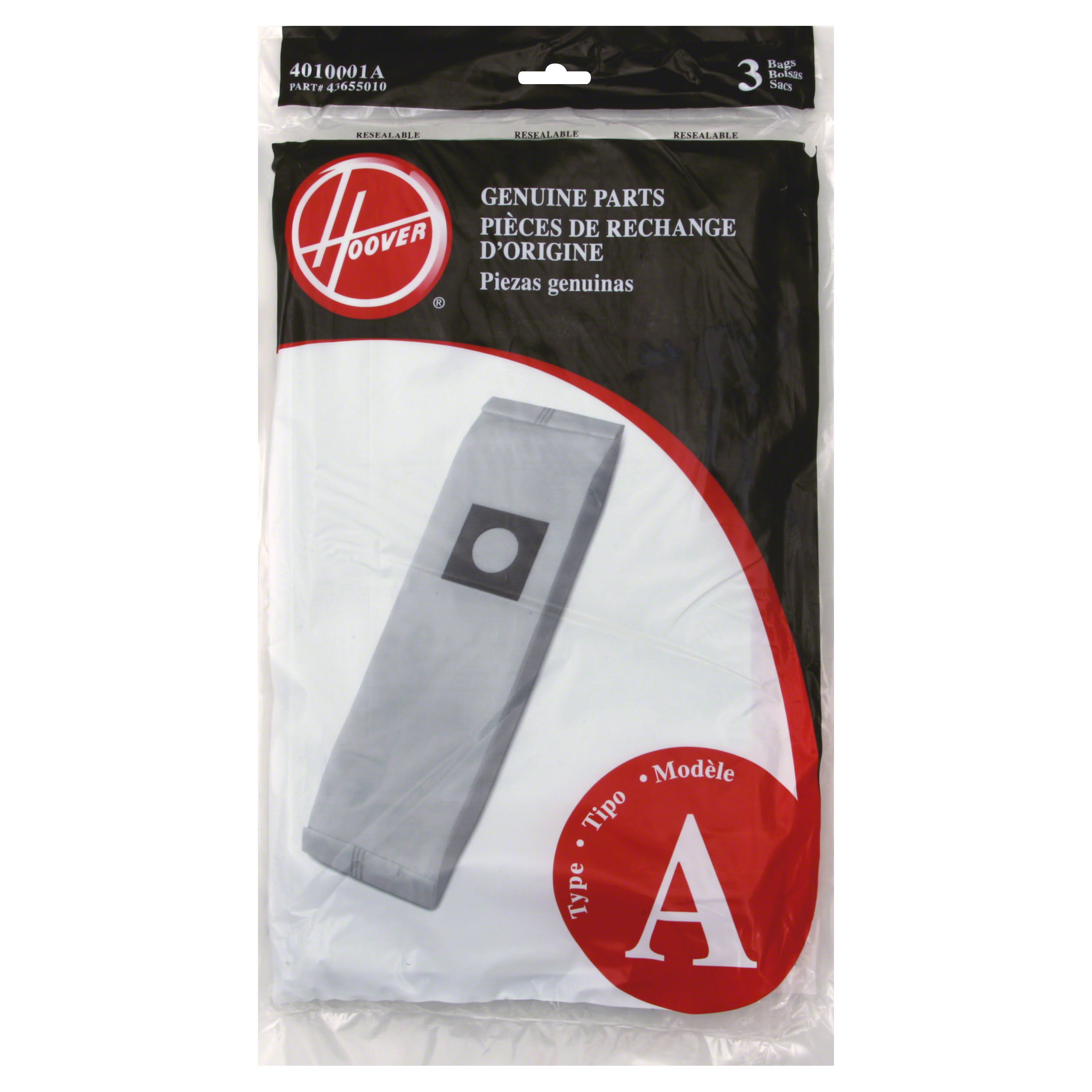 Hoover Genuine Hoover Filter Bags - Type A, 3 Filter Bags