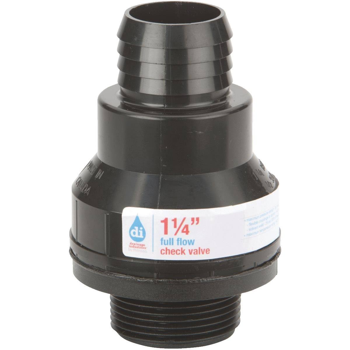 Drainage Industries Sump Pump Check Valve - 1-1/4''