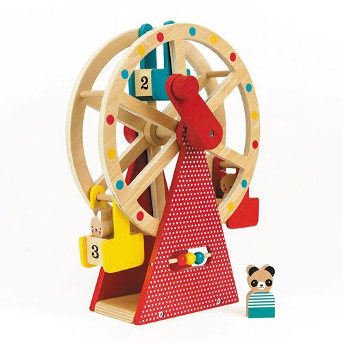 Petit Collage Carnival Playset Wooden Ferris Wheel - 24cm