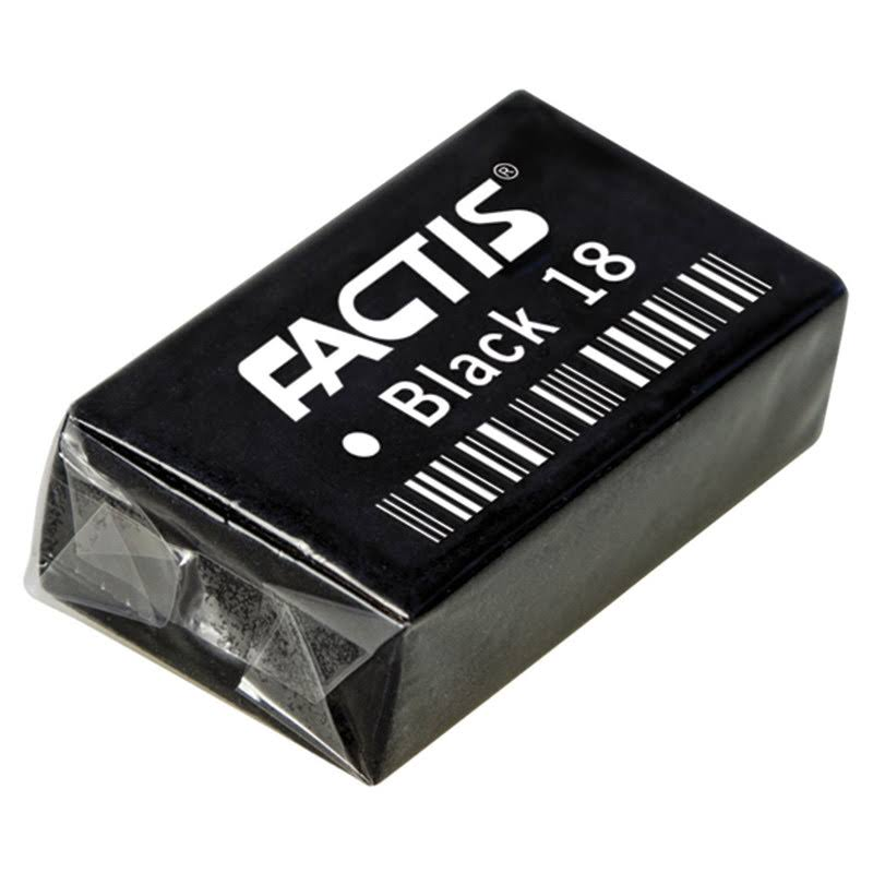Factis Black Eraser : Extra Soft Black 18