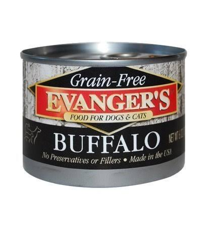 Evangers Grain Free Cat and Dog Food - Buffalo, 6oz