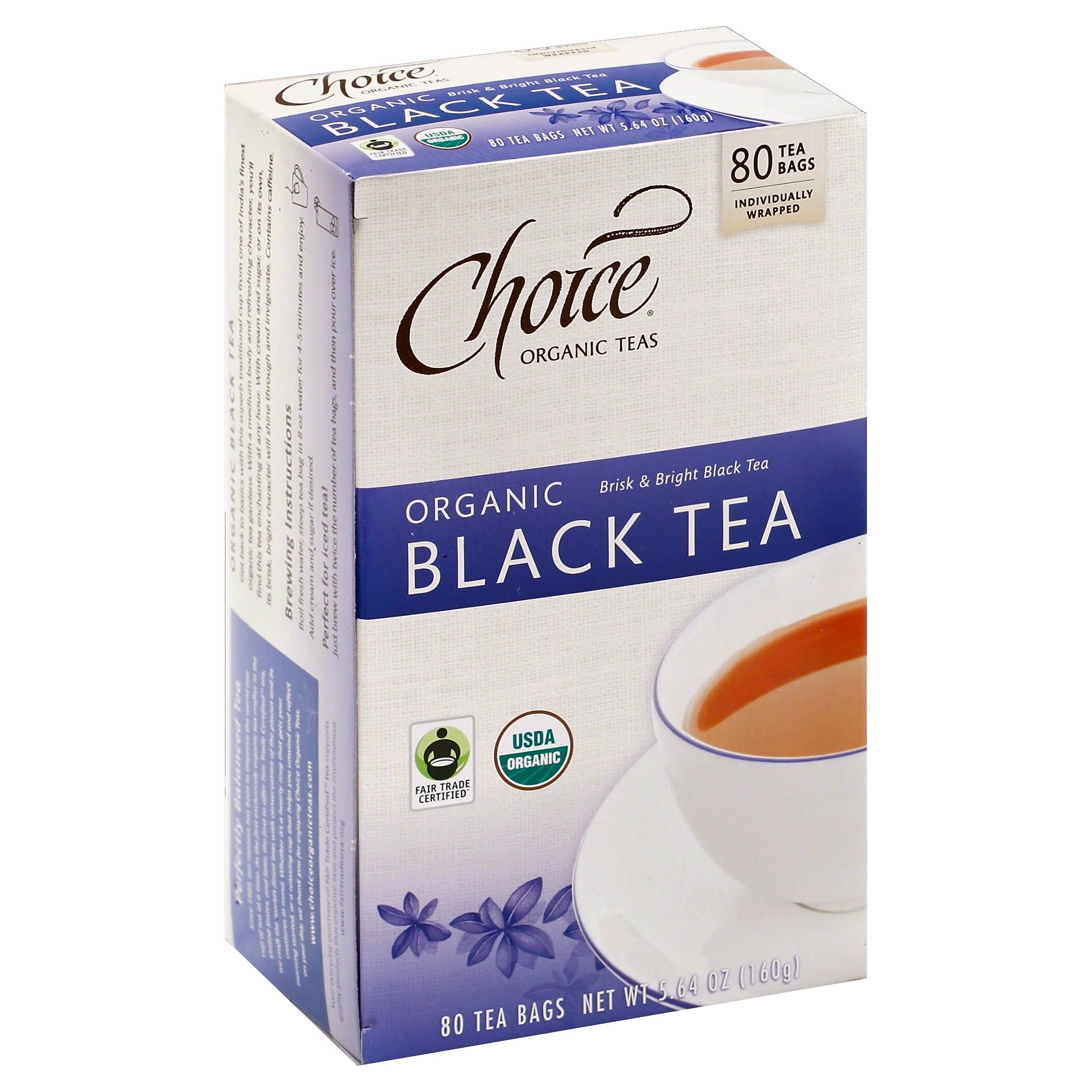 Choice Organic Teas Black Tea, Organic, Tea Bags - 80 bags, 5.64 oz