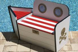 toy chest wooden toy box pirate boat shaped wood toy chest