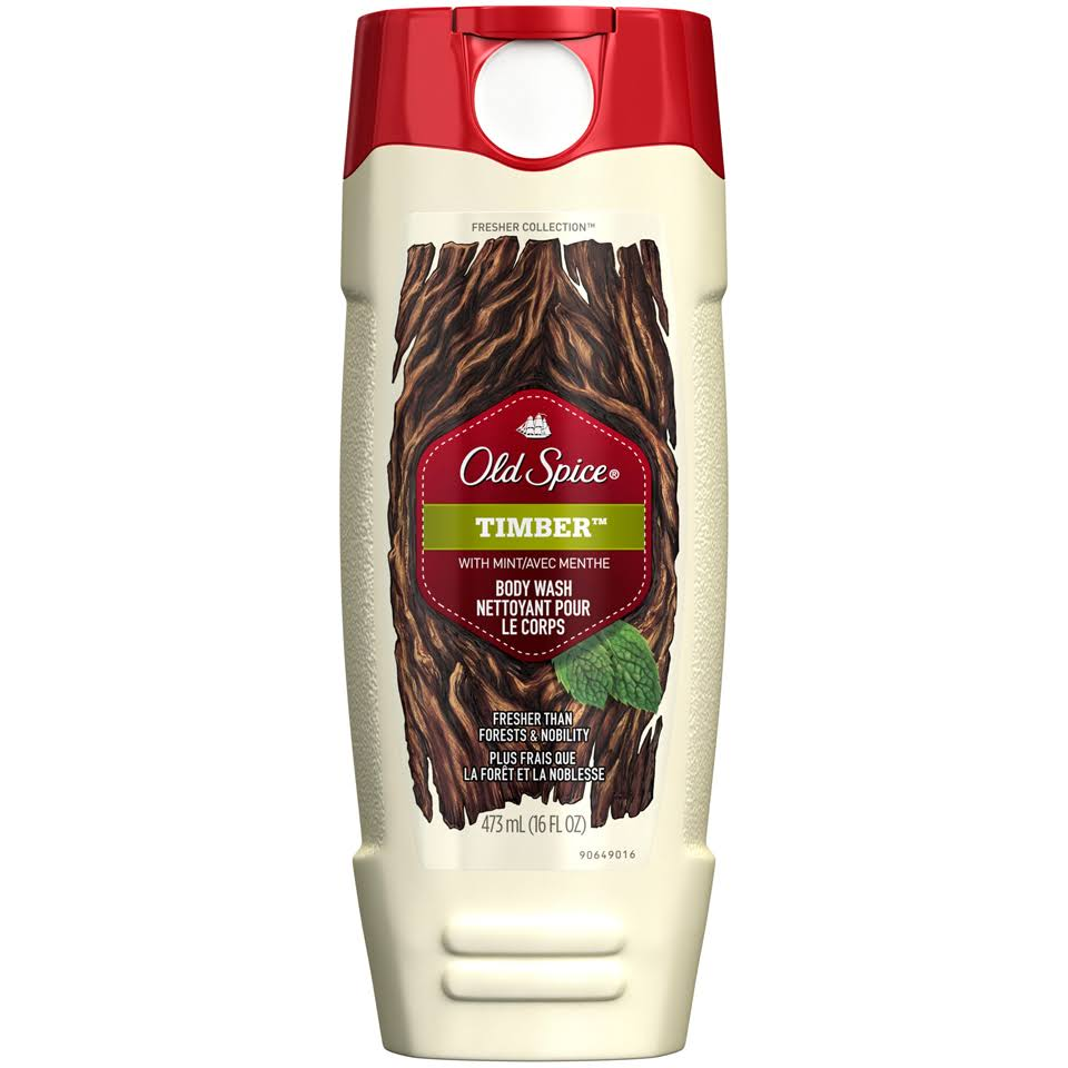 Old Spice Body Wash - Timber with Mint, 16oz