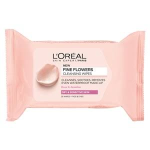 L'Oreal Paris Fine Flowers Dry to Sensitive Cleansing Wipes - 25 Wipes
