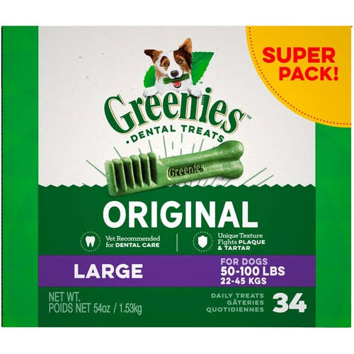 Greenies Dental Dog Treats, L - 54 oz