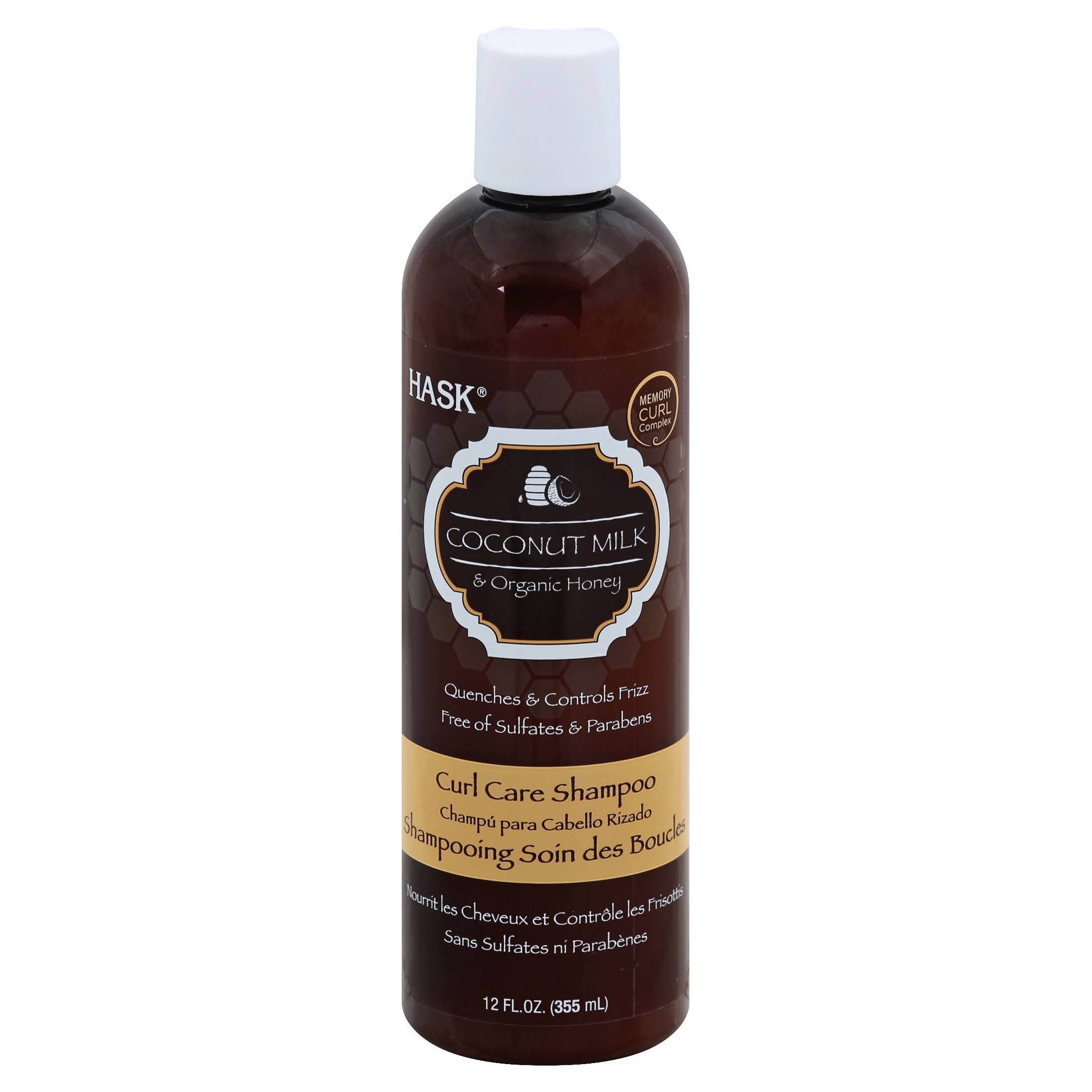 Hask Coconut Milk and Organic Honey Curl Care Shampoo - 355ml