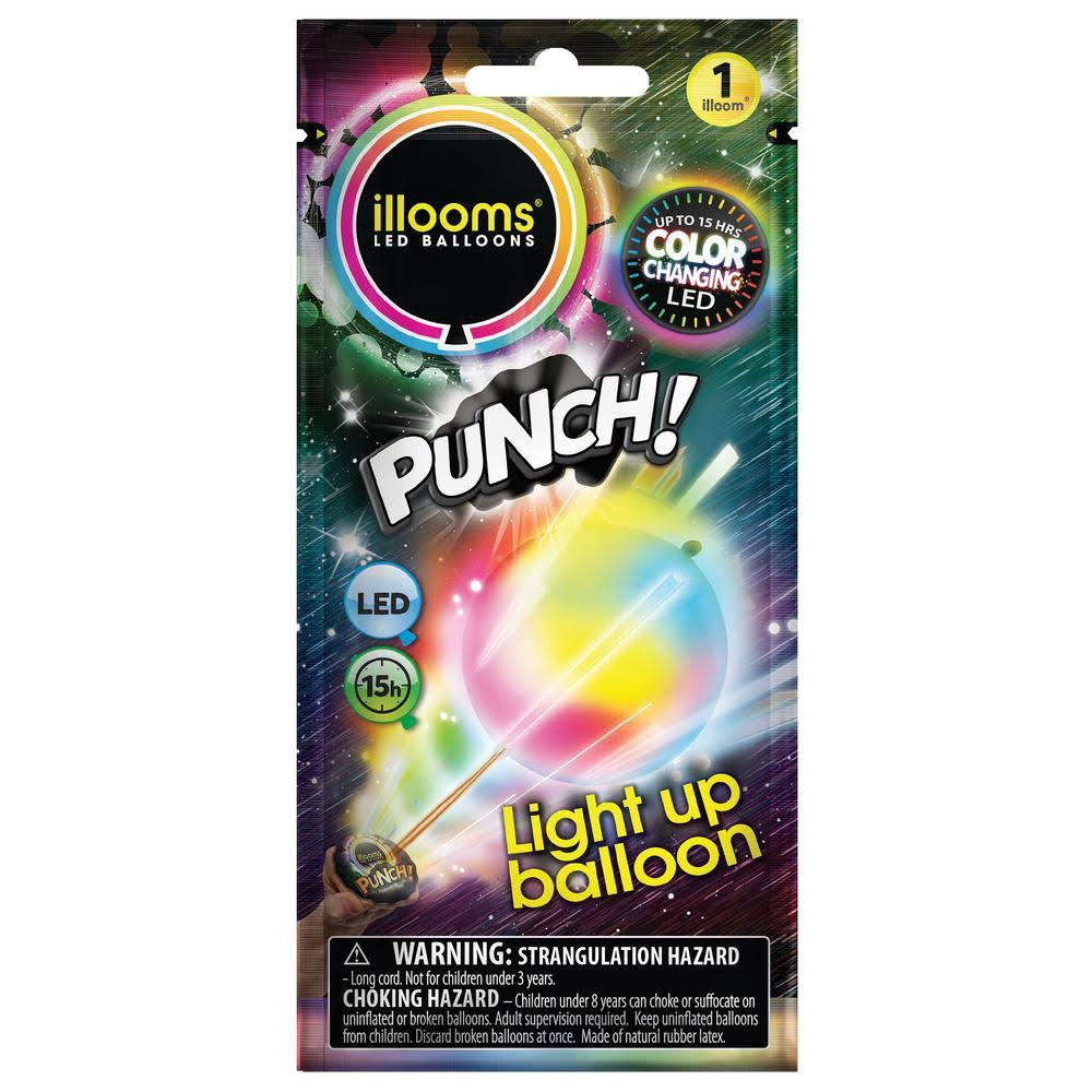Illooms Color Changing LED Light Up Punch Balloon - Pack of 1