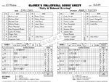 Glover 13156 Short Form Volleyball Scorebook