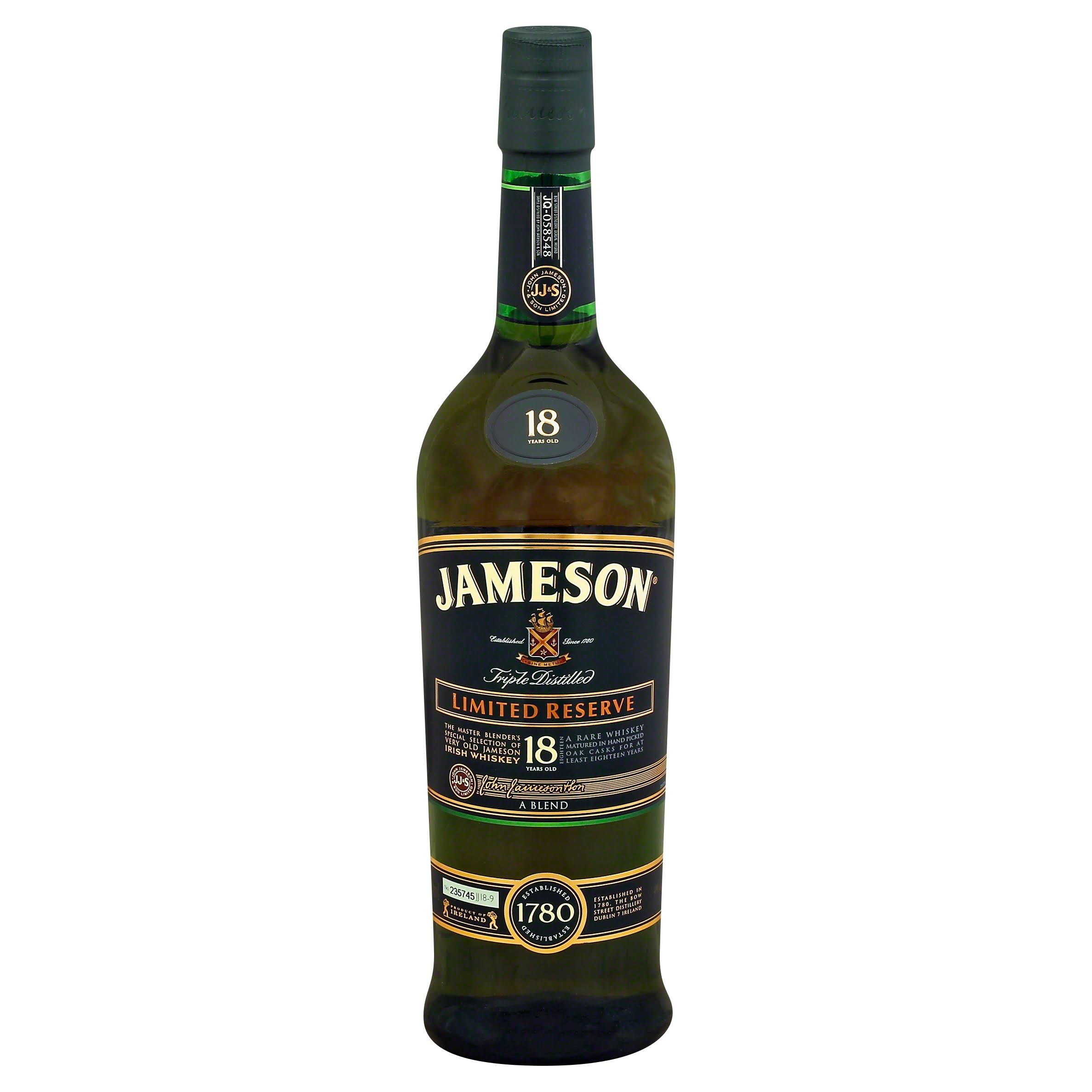 Jameson 18 Year Limited Reserve Irish Whiskey - 750ml