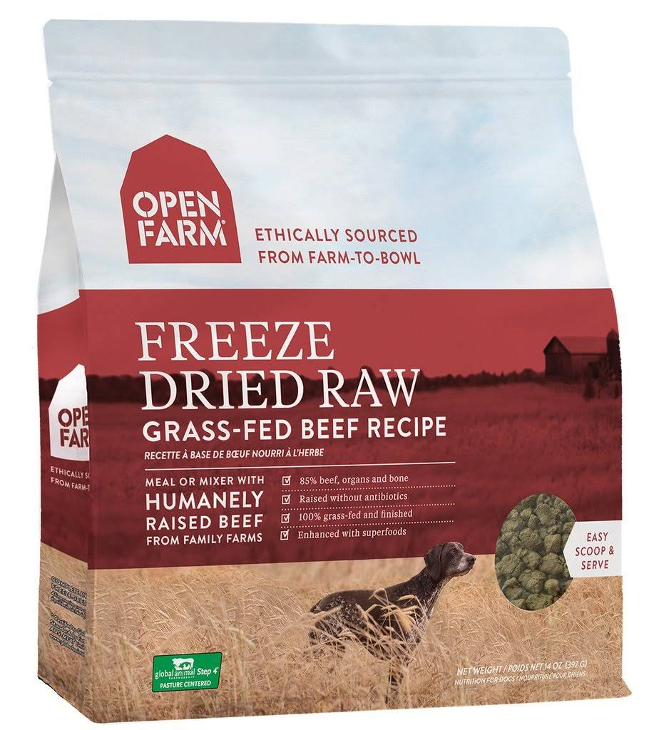 Open Farm Grass-Fed Beef Freeze Dried Raw Dog Food 13.5 oz