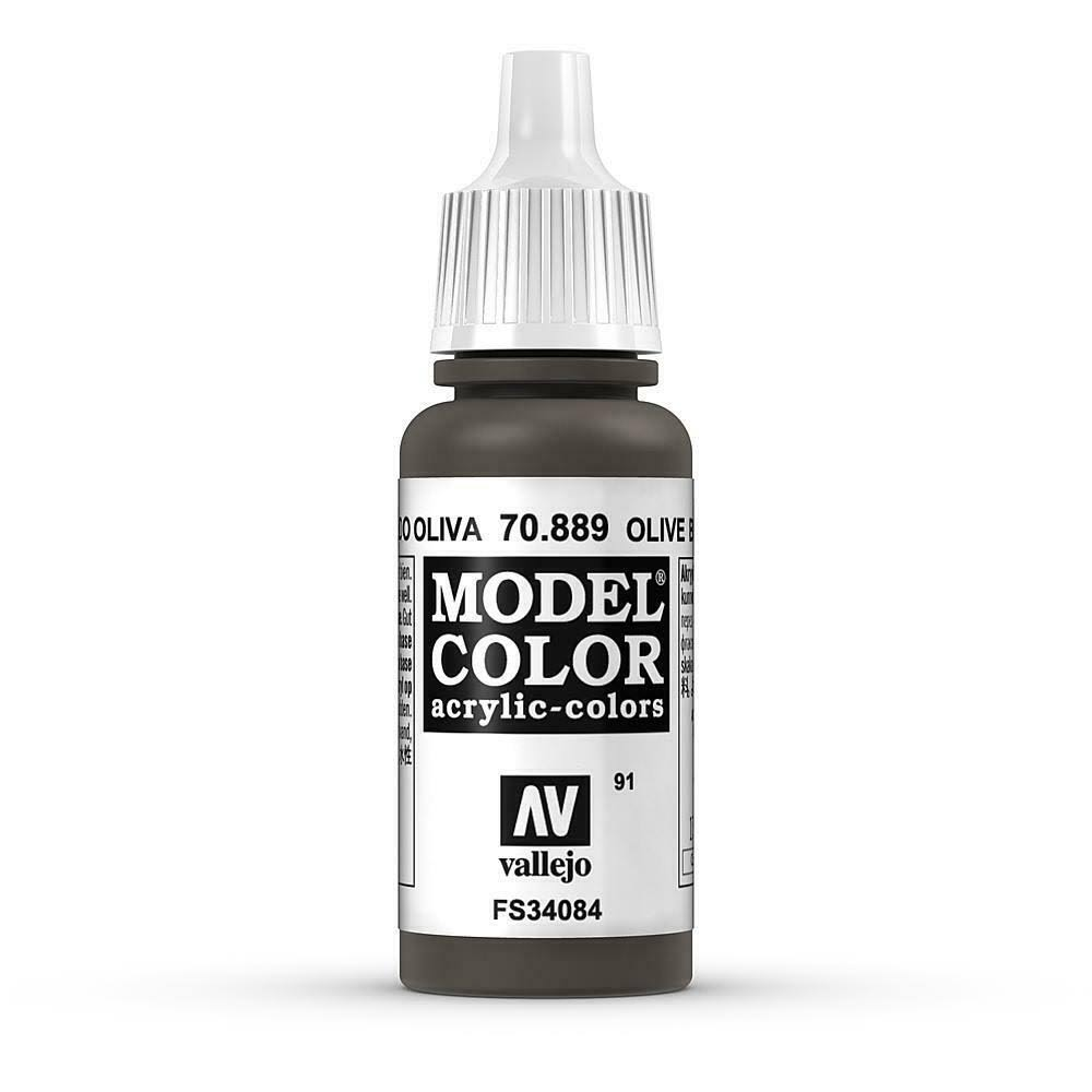 Vallejo Model Acrylic Color - Olive Brown, 17ml