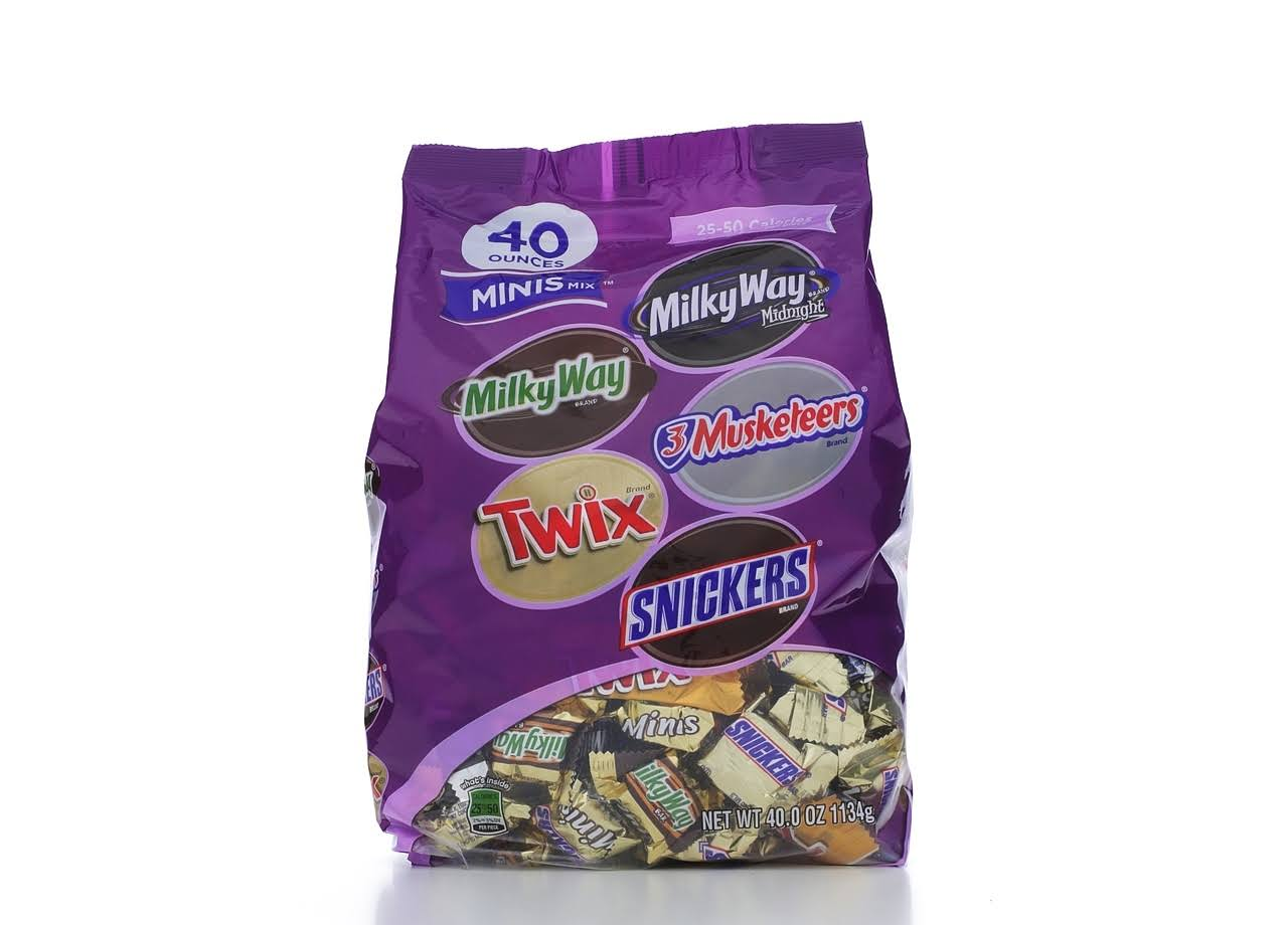 Mars Chocolate Favorites Minis Size Candy Bars - Variety Mix Bag, 40oz